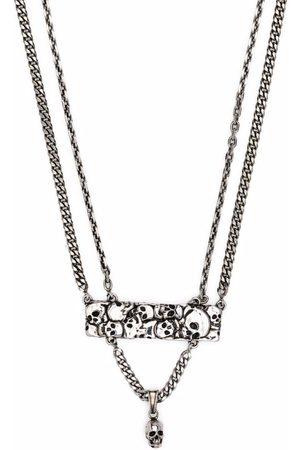 Alexander McQueen Layered Skull Necklace