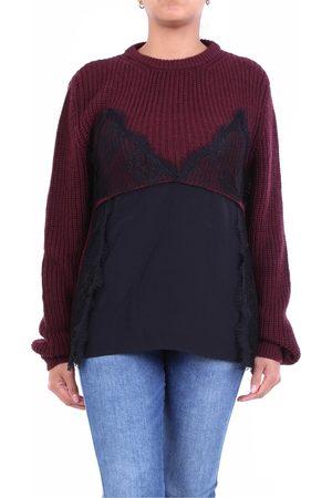 L'Autre Chose L'AUTRECHOSE Knitwear Crewneck Women Bordeaux and black