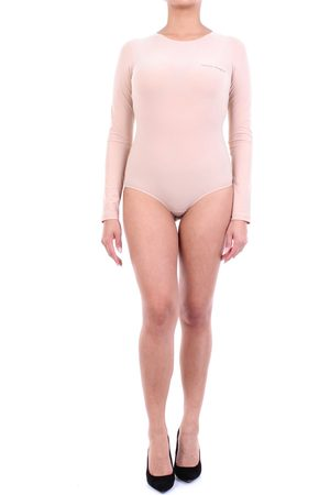 MM6 by Maison Martin Margiela MM6 Maison Margiela body with long sleeves in beige color