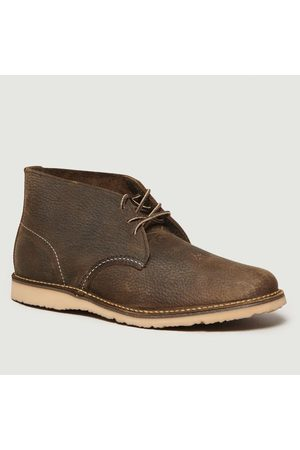 Red Wing 3327 Wekker Chukka Boots Olive Roughneck Shoes