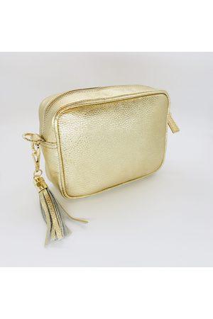 Elie Beaumont Gold Crossbody Bag