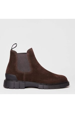 CAR SHOE Men Ankle Boots - Suede Ankle Boot With Elastic Dark