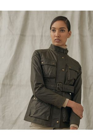 Belstaff Trialmaster Wax Belted Jacket 8, Colour: Faded Olive