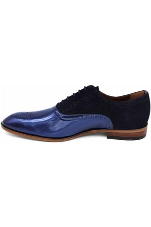 Lacuzzo Contrast High Shine Panel Navy Shoe Navy Shoe