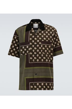 SACAI Short-sleeved cotton shirt