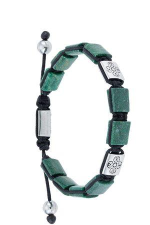 Nialaya Dorje Flatbead beaded bracelet