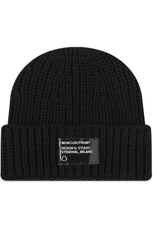 Moncler Genius 7 Moncler FRGMT Hiroshi Fujiwara Logo Patch Beanie Hat