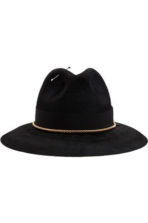 Ruslan Baginskiy Chain Embellished Felt Fedora Hat