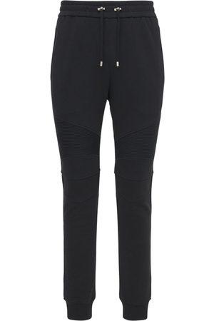 BALMAIN Men Sweatpants - B Logo Cotton Jersey Sweatpants
