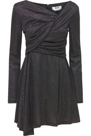 MSGM Glitterd Jersey Mini Dress