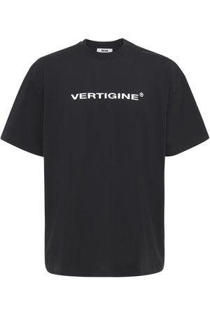 MSGM Vertigine Print Cotton Jersey T-shirt
