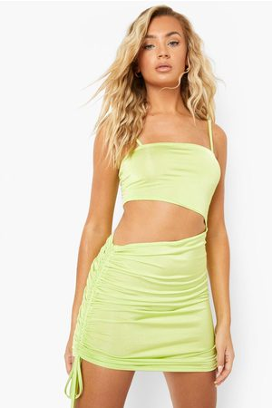 Boohoo Womens Recycled Slinky Cut Out Ruched Mini Dress - - 4
