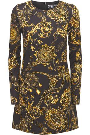 VERSACE Baroque Print Stretch Jersey Mini Dress