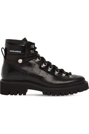 Dsquared2 Hector Brushed Leather Hiking Boots