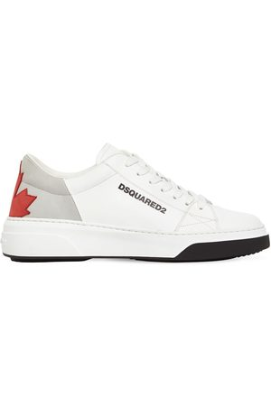DSQUARED2 Maple Leaf Bumper Leather Sneakers