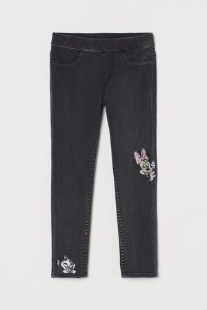 H & M Embroidery-detail Jeggings