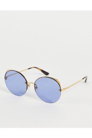 Vogue Oversized Round Sunglasses-Blues