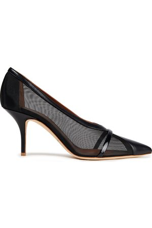 MALONE SOULIERS Women Heeled Pumps - Woman Brook 70 Leather Rand Mesh Pumps Size 36.5