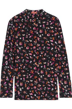 ALTUZARRA Women Long sleeves - Woman Chika Floral-print Silk Crepe De Chine Shirt Size 38