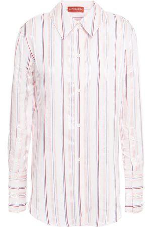 ALTUZARRA Women Long sleeves - Woman Striped Oxford Shirt Size 36