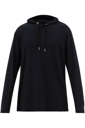 Givenchy Men Sweatshirts - Logo-embossed Cotton-jersey Hooded Sweatshirt - Mens