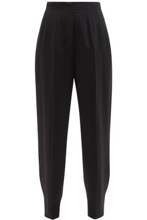 Jil Sander Front-crease Wool-blend Twill Wide-leg Trousers - Womens