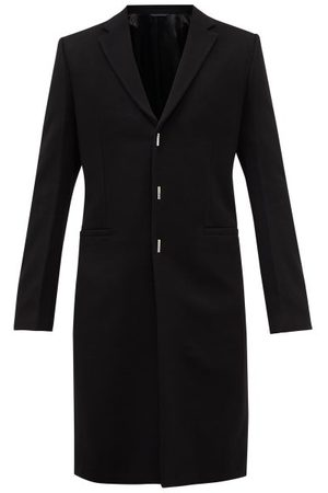 Givenchy Single-breasted Wool-blend Overcoat - Mens