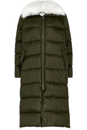 YVES SALOMON Army quilted shell coat