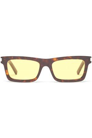 Saint Laurent Rectangular Tortoiseshell-acetate Sunglasses - Womens - Multi