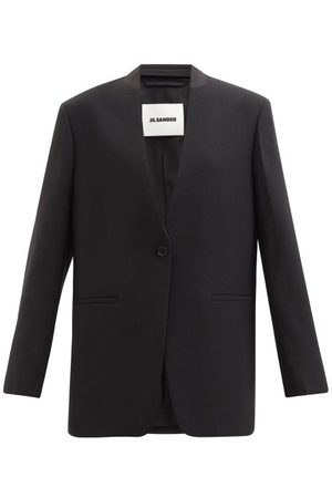 Jil Sander Single-breasted Crepe Jacket - Womens