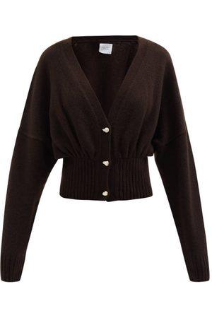 Galvan Luna Faux-pearl Button Wool-blend Cardigan - Womens