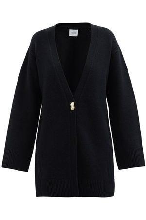 GALVAN Pearl-embellished Wool-blend Cardigan - Womens