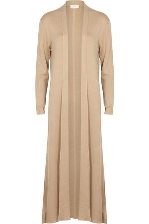 The Row Christobel sand longline cashmere-blend cardigan