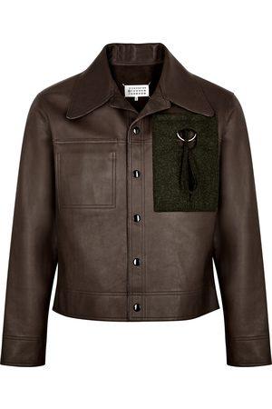 Maison Margiela Dark reversible leather jacket