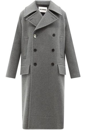 Jil Sander Doubled-breasted Felted-wool Overcoat - Mens - Grey