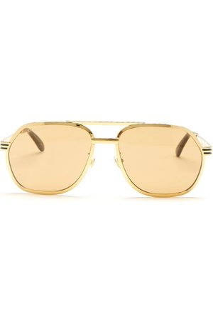 Gucci Aviator Metal Sunglasses - Mens