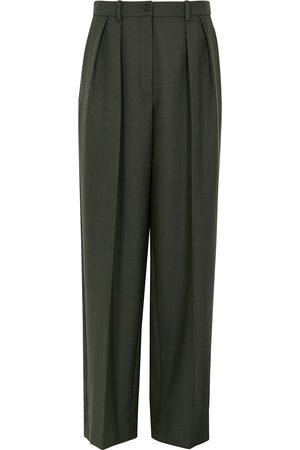 The Row Igor dark stretch-wool trousers