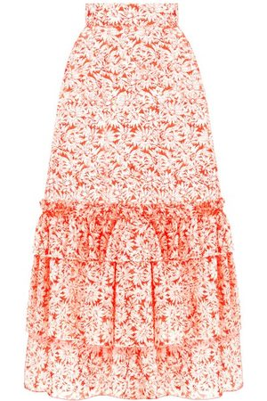 The Vampire's Wife The Righteous Tiered Floral-print Organza Skirt - Womens