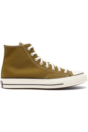 Converse Chuck 70 High-top Recycled-fibre Canvas Trainers - Mens - Olive