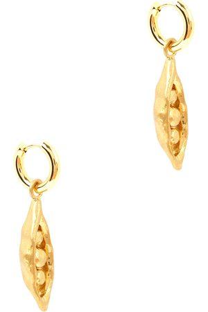 SANDRALEXANDRA Pea in a Pod 18kt -plated hoop earrings
