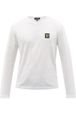 Belstaff Logo-patch Cotton-jersey Long-sleeved T-shirt - Mens