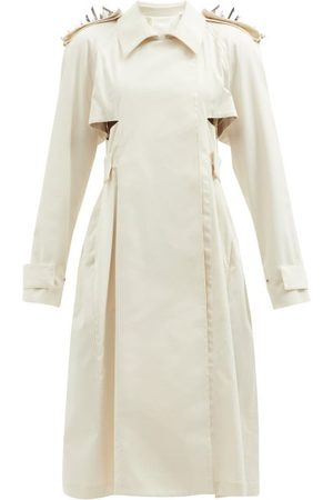 Givenchy Studded Cotton-blend Gabardine Trench Coat - Womens