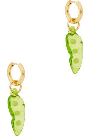 SANDRALEXANDRA Pea in a Pod 18kt gold-plated hoop earrings
