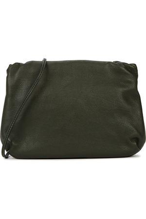 The Row Bourse dark leather cross-body bag