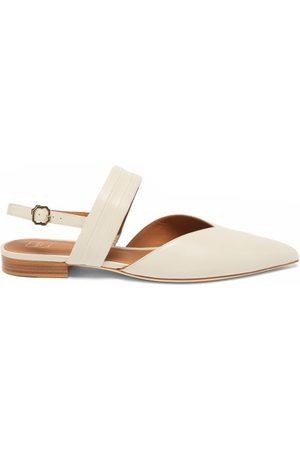 MALONE SOULIERS Myla Point-toe Leather Slingback Flats - Womens