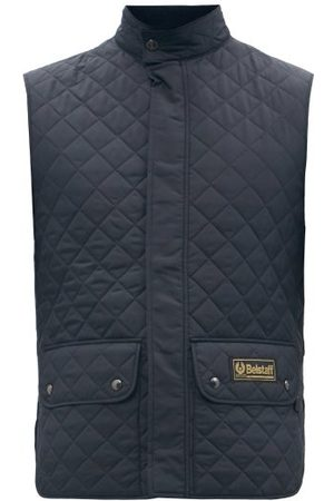 Belstaff Diamond-quilted Padded Gilet - Mens - Navy