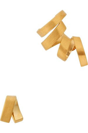 Completed Works Asymmetric 14kt -plated vermeil earrings