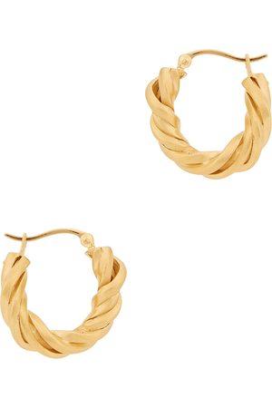 Completed Works Deep State 14kt -plated vermeil hoop earrings