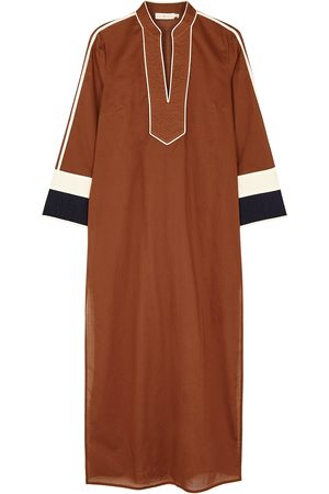 Tory Burch Women Beach Dresses - Terracotta cotton maxi kaftan