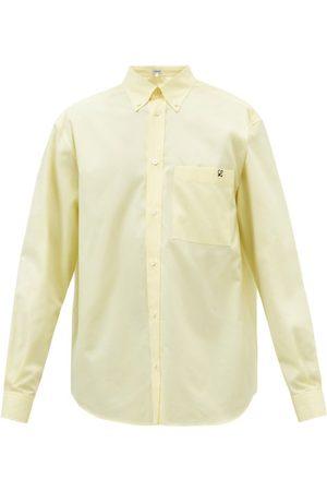 Loewe Anagram-embroidered Cotton-poplin Shirt - Mens